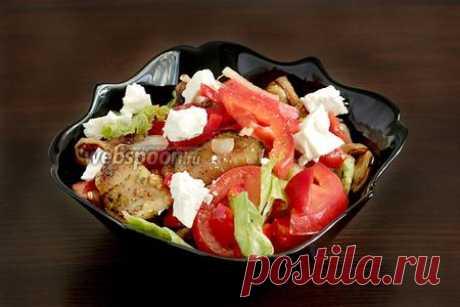 Овощной салат с баклажанами и брынзой рецепт с фото
