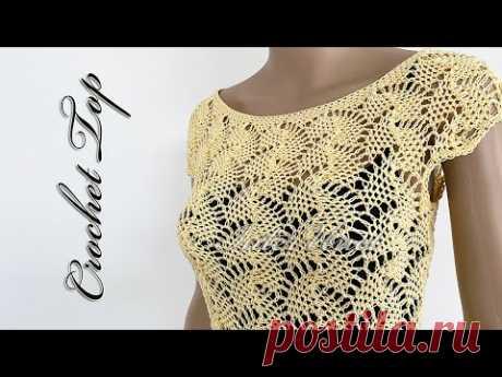 Lace summer blouse crochet tutorial