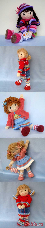 Очень красивые вязаные куклы.