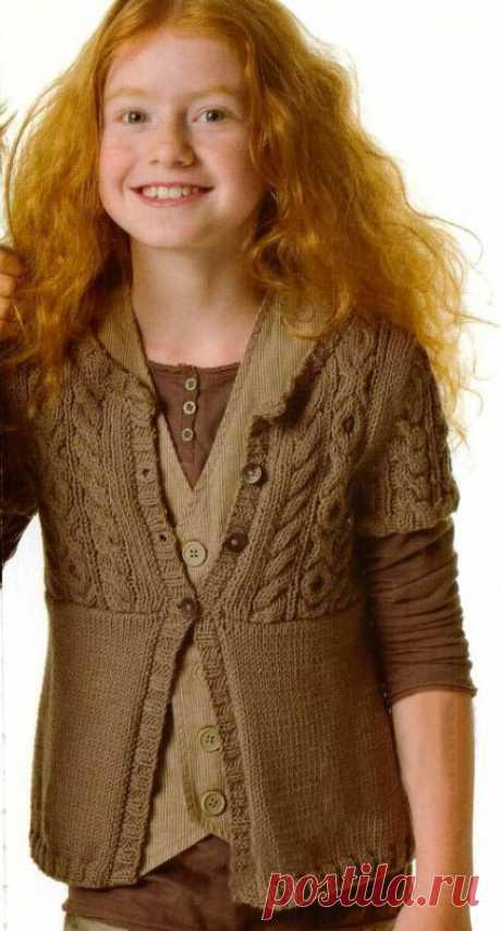 Вязание для девочек спицами -16 моделей со схемами и описанием