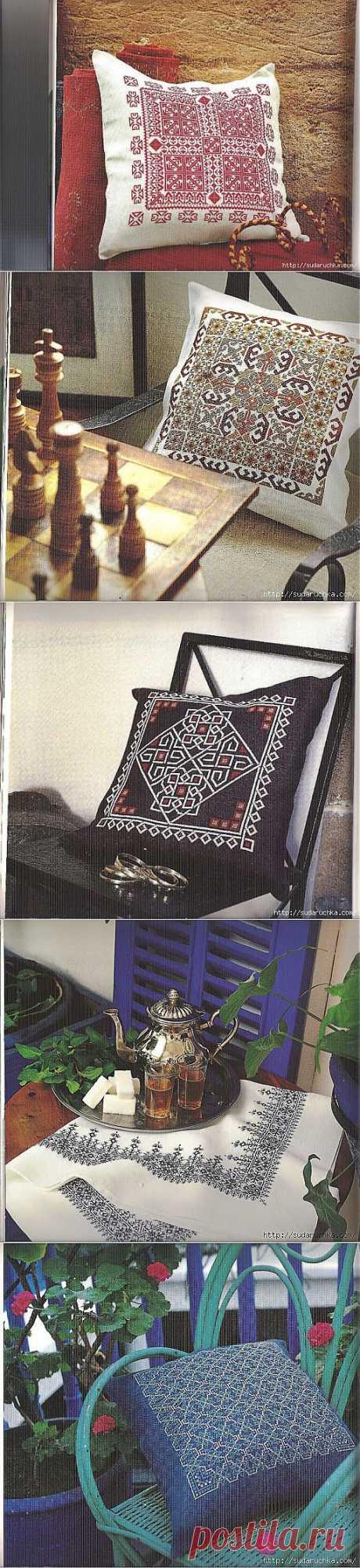 Вышивка крестом - марокканские мотивы. Схемы для вышивки. .
