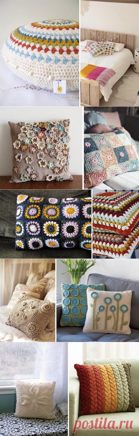 Вязаные акценты стильного интерьера. Часть вторая: подушки - Ярмарка Мастеров - ручная работа, handmade