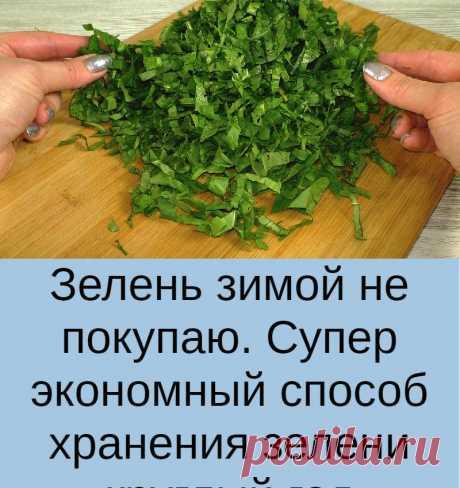 Зелень зимой не покупаю. Супер экономный способ хранения зелени круглый год