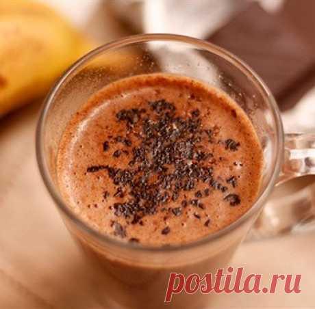 Бананово-шоколадный милкшейк рецепт