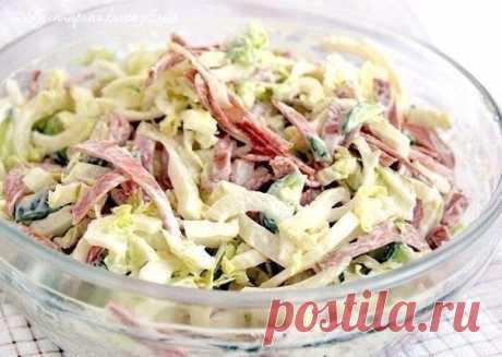 Como preparar la ensalada vkusnyashka - la receta, los ingredientes y las fotografías