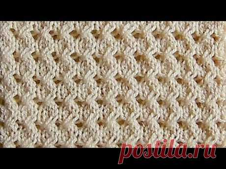 Рельефный узор косички Вязание спицами Видеоурок 241 - YouTube