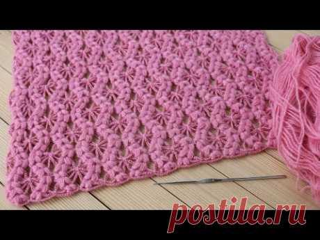 Простой УЗОР крючком КОСИЧКИ вязание мастер-класс СХЕМА вязания Easy to Crochet Tape Lace pattern