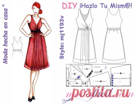 6126d5466d Moldes de bello y elegante vestido de ocasión - Modafacil DIY