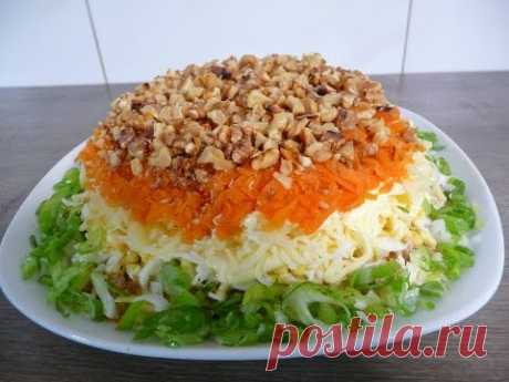 Cod liver salad Festive Very tasty - YouTube