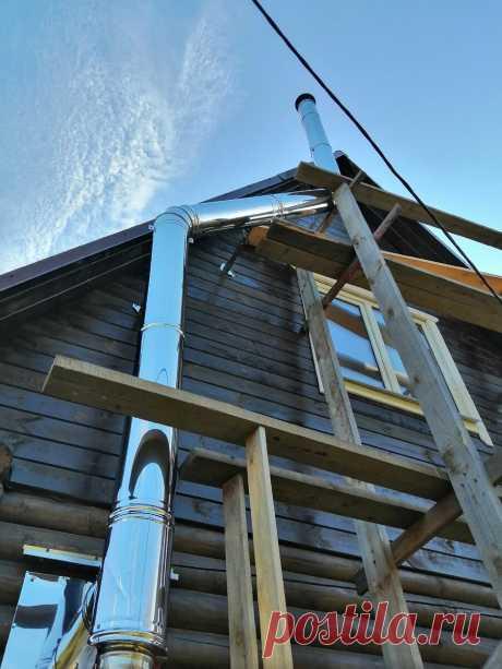 Монтаж угловой дровяной печи в деревянном доме. | Даня на даче: строю и показываю! | Яндекс Дзен