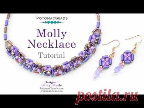 LIVE Tutorial - The Molly Necklace - by PotomacBeads
