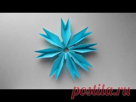 Цветок из бумаги - простая и популярная оригами поделка, которую сможет сделать каждый. Бумажные цветы - очень хорошие элементы декора, а также самостоятельные детские подарки на различные праздники, например: 8 марта, день влюбленных или день матери. Для изготовления такого цветка мы использовали 8 листов бумаги размером 8*8 см. https://www.youtube.com/watch?v=0be3YkgT7VQ
