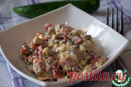 Салат из перца с ветчиной Кулинарный рецепт
