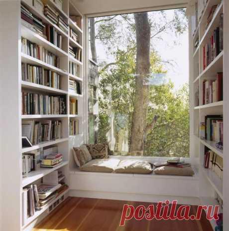 Окна с широкими подоконниками в интерьере / Богатая добыча