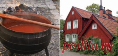 The recipe of the Scandinavian paint from natural components which does not need to be updated for years …