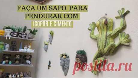 DIY- FAÇA UM SAPÃO PARA PAREDE 70CM