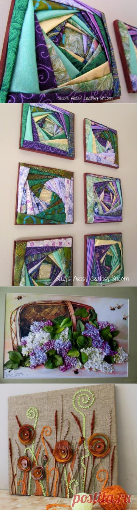 Оригинальные панно из лоскутов — Делаем руками