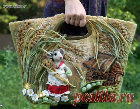Необычная валяная сумка / Унесенные фетром / ВТОРАЯ УЛИЦА