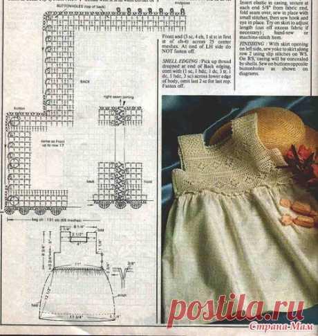 Детские платья ткань + крючок - yu_stesh