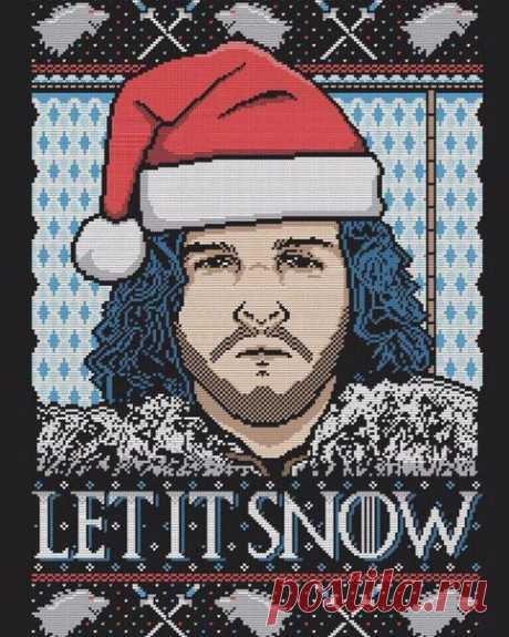 """Christmas embroideries according to series """"Игра престолов"""""""
