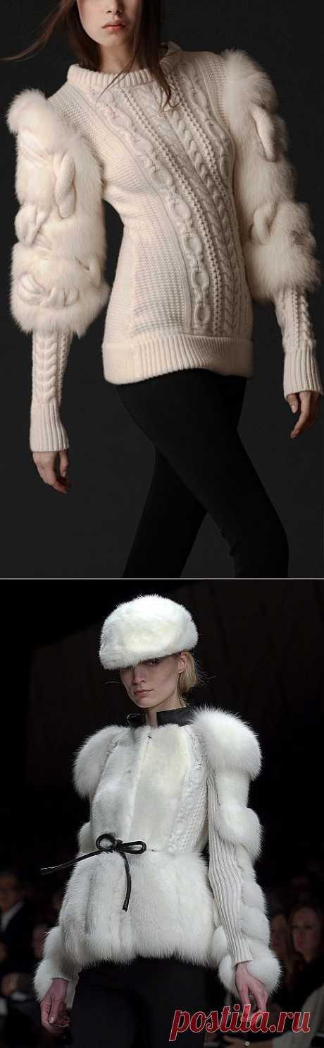 Вязаный пуловер от Burberry | Вяжем с Ланой
