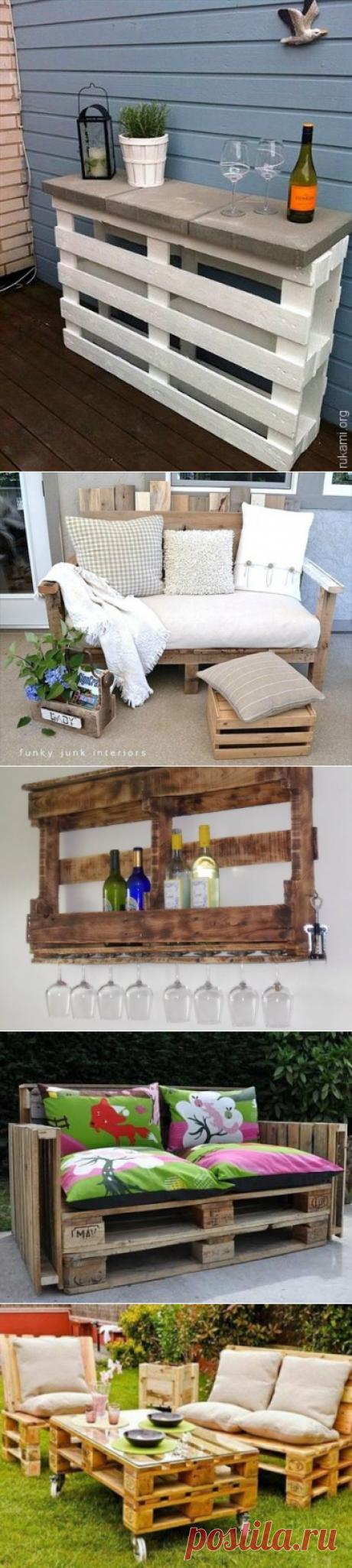 Идеи использования деревянных поддонов