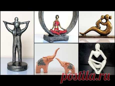 5 Easy home decor sculpture making ideas for beginners/art and craft/CreativeCat