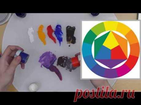 Как смешивать цвета, масло, гуашь, акварель