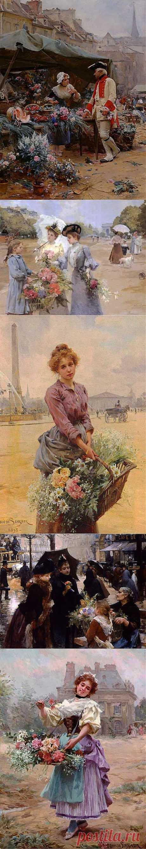 (+1) - Прекрасные цветочницы художника Луи де Шривера | Искусство