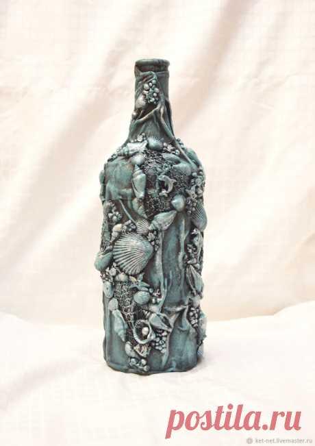 Бутылки: Декор бутылки в морском стиле – купить на Ярмарке Мастеров – L5952RU | Бутылки, Балтийск Бутылки: Декор бутылки в морском стиле в интернет-магазине на Ярмарке Мастеров. Бутылка декорированная в морском стиле. Послужит отличным подарком рыбакам, морякам или просто хорошим людям. Цвет и дизайн выполню по вашим пожеланиям.