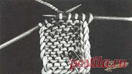 Как правильно вязать кромочные петли спицами