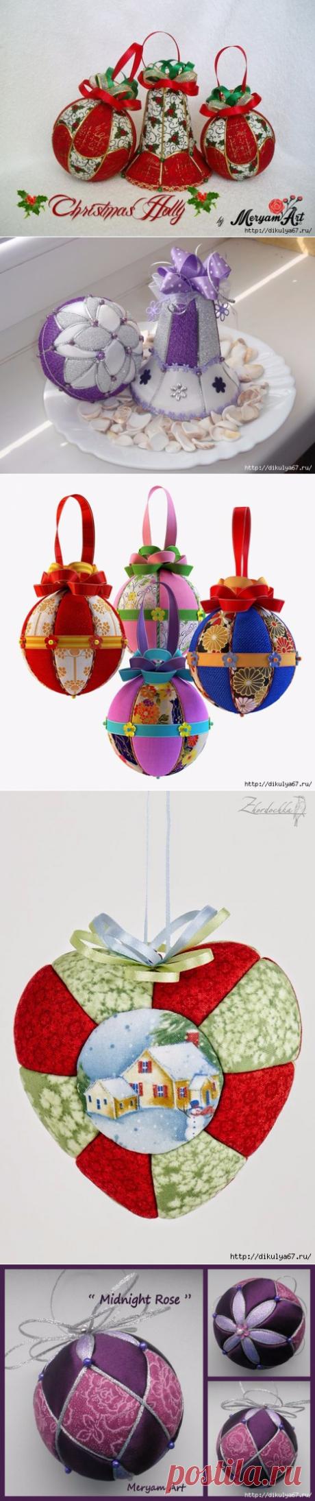Новогодние игрушки в технике кимекоми. Видео МК.