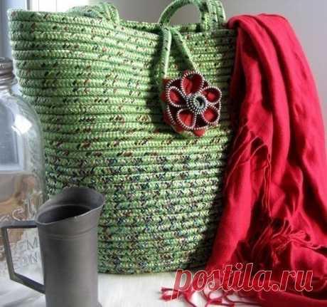 Корзинки и сумочки из лоскутков
