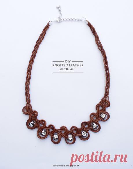 Ожерелье из кожи, роскошное визуально, простое исполнительно   oblacco