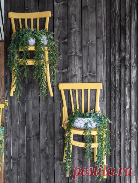 """Венский вальс старого стула:)) Краткая история преображения бабушкиных стульев от дизайнера интерьеров Аси Бондаревой. А чтобы на деревянной стене они стали заметнее, выкрасила в желтый"""""""