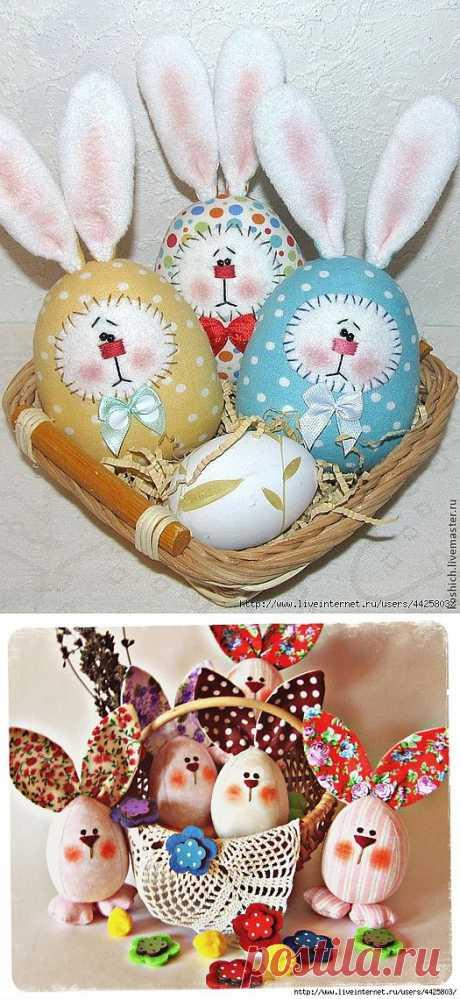 Шьем пасхальные яйца-веселые зайцы. Идеи и мастер-класс..