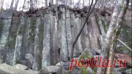 Загадочная стена в тайге