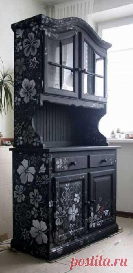 Как обновить старую мебель своими руками. - Идейки