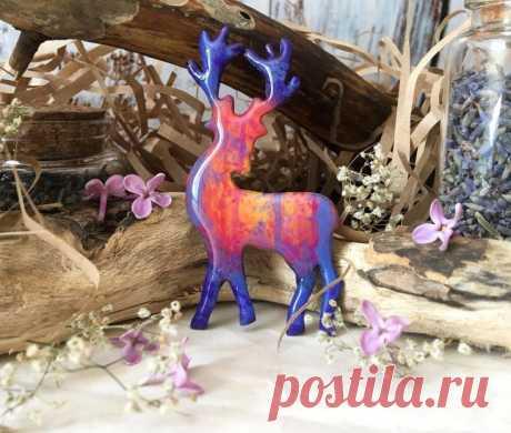 Олень из полимерной глины | 31 фото | Polymer clay craft