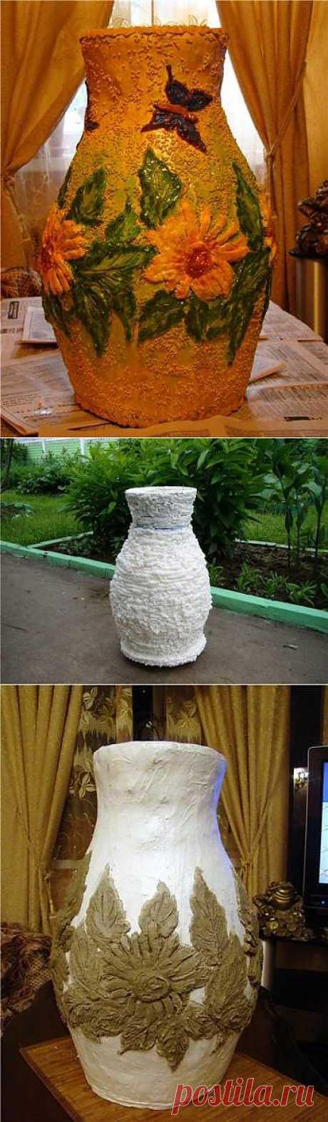 Кувшин-ваза для сада. Пошаговые фото.