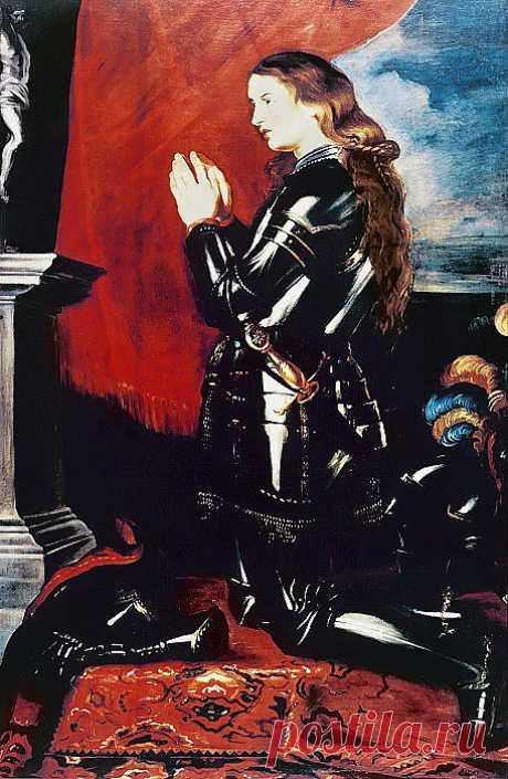 Молящаяся Жанна Дарк. Питер Пауль Рубенс. Описание картины, скачать репродукцию.