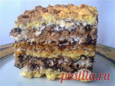 Торт-пляцок маково-кокосовый - Хлебопечка.ру