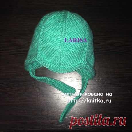 Вязаная шапочка и пинетки – работы Ларисы Величко,  Вязание для детей