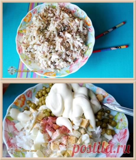 Салат с рисом и сайрой рецепт