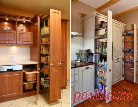 Мини-кладовая на кухне из того, что под рукой