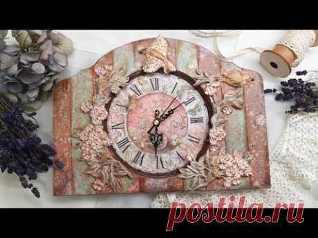 Wall clock ♡🕰♡Decoupage tutorial - YouTube