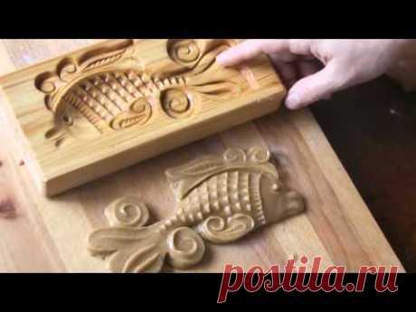 Видео-урок #1. Формования печатного пряника с помощью пряничной доски