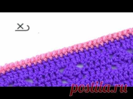 Обкрученный столбик без накида   Twisted Single crochet