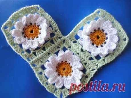 Connection of square motives Compound square motifs Crochet