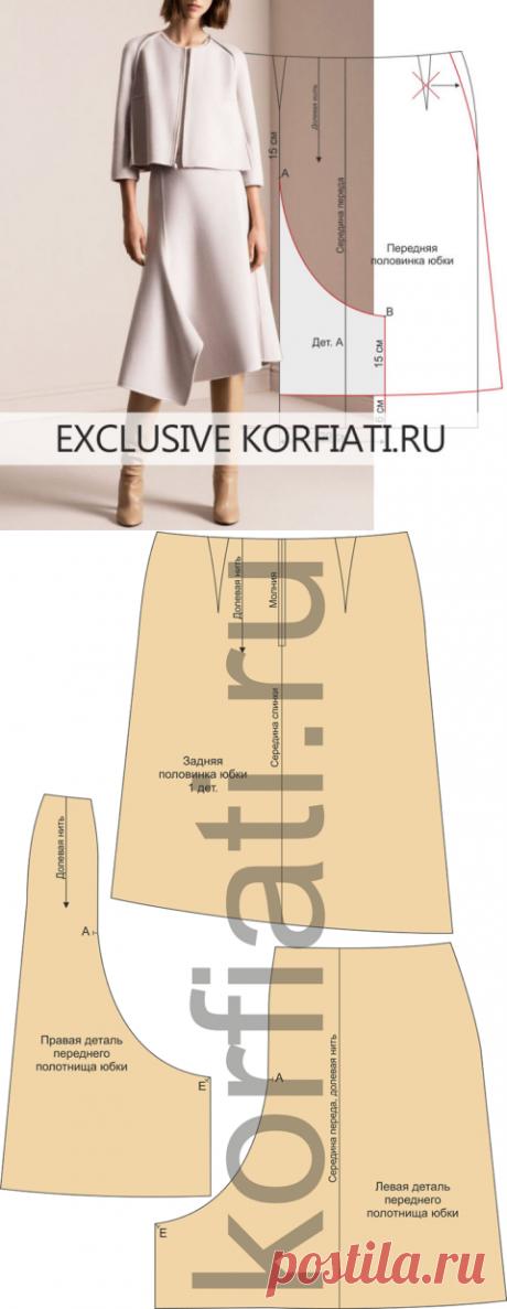 Выкройка шерстяной юбки от Школы шитья Анастасии Корфиати